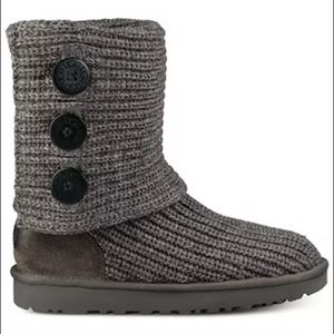 UGG Classic Cardy Knit Boot Sweater Grey